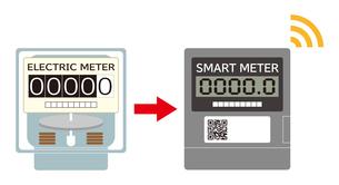 電気メーター スマートメーター 導入 イラストのイラスト素材 [FYI04562835]