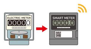 電気メーター スマートメーター 導入 イラストのイラスト素材 [FYI04562837]