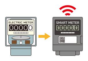 電気メーター スマートメーター 導入 イラストのイラスト素材 [FYI04562838]