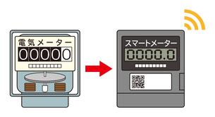 電気メーター スマートメーター 導入 イラストのイラスト素材 [FYI04562841]
