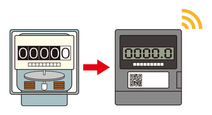 電気メーター スマートメーター 導入 イラストのイラスト素材 [FYI04562842]