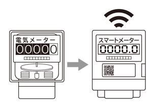 電気メーター スマートメーター 導入 イラストのイラスト素材 [FYI04562844]