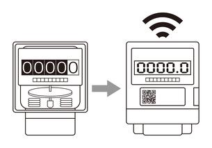 電気メーター スマートメーター 導入 イラストのイラスト素材 [FYI04562845]