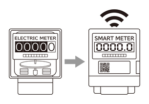電気メーター スマートメーター 導入 イラストのイラスト素材 [FYI04562846]