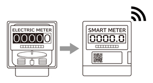電気メーター スマートメーター 導入 イラストのイラスト素材 [FYI04562848]