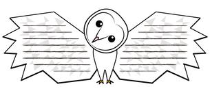メンフクロウ メッセージカード イラストのイラスト素材 [FYI04562876]