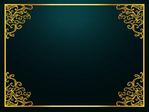 ヴィンテージゴールドフレームのイラスト素材 [FYI04562903]