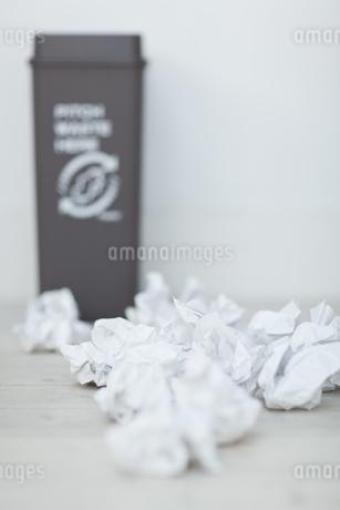 可燃ゴミとゴミ箱の写真素材 [FYI04562922]