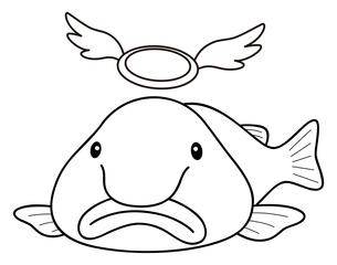 ブロブフィッシュ(ニュウドウカジカ)イラストのイラスト素材 [FYI04564041]