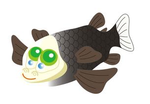 デメニギス 深海魚 キャラクター イラストのイラスト素材 [FYI04564214]