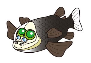 デメニギス 深海魚 キャラクター イラストのイラスト素材 [FYI04564216]
