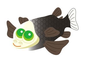 デメニギス 深海魚 キャラクター イラストのイラスト素材 [FYI04564218]