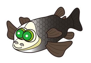 デメニギス 深海魚 キャラクター イラストのイラスト素材 [FYI04564222]