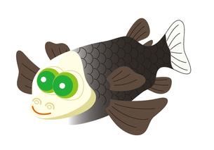 デメニギス 深海魚 キャラクター イラストのイラスト素材 [FYI04564224]