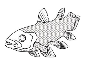 シーラカンス 深海魚 キャラクター イラスト クリップアートのイラスト素材 [FYI04564240]