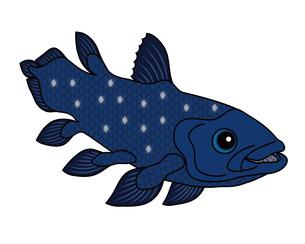 シーラカンス 深海魚 キャラクター イラスト クリップアートのイラスト素材 [FYI04564243]