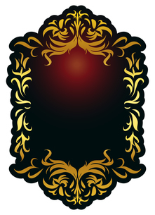 バロック装飾エレガントヴィンテージフレーム飾り罫のイラスト素材 [FYI04564870]