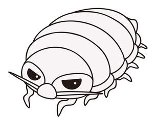 ダイオウグソクムシ 深海生物 キャラクター イラストのイラスト素材 [FYI04565184]