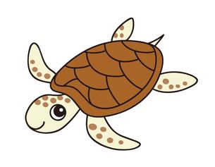 ウミガメ キャラクター イラストのイラスト素材 [FYI04565310]