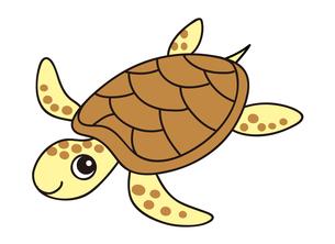 ウミガメ キャラクター イラストのイラスト素材 [FYI04565311]
