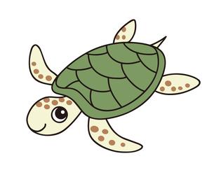 ウミガメ キャラクター イラストのイラスト素材 [FYI04565312]