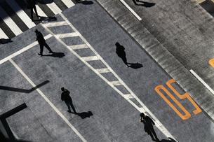 休日の銀座の歩行者天国でソーシャルディスタンスを保って歩く人々の写真素材 [FYI04566890]