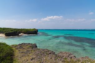 宮古島 海と橋の写真素材 [FYI04567733]