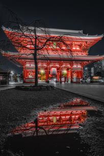 浅草寺夜景 Sensoji Temple Nightviewの写真素材 [FYI04567755]