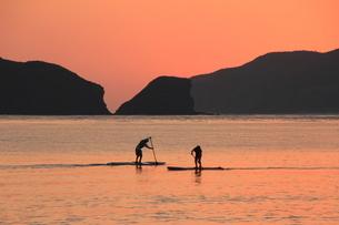 沖縄の海 夕凪の写真素材 [FYI04568349]