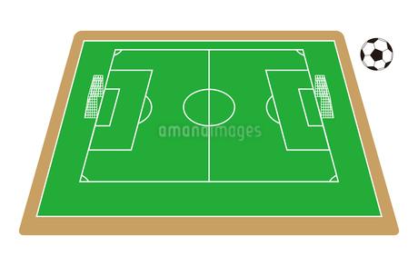 サッカー場 サッカーボール イラストのイラスト素材 [FYI04568422]