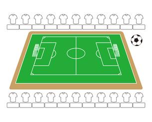 サッカー場 サッカーボール イラストのイラスト素材 [FYI04568423]