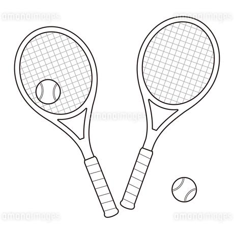 テニスラケットとテニスボールのセット イラストのイラスト素材 [FYI04568426]