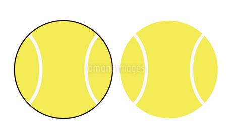 テニスボール アウトラインありなしのセット イラストのイラスト素材 [FYI04568435]