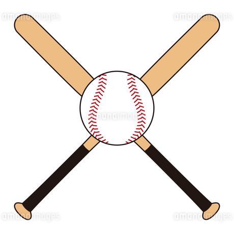 野球のバットとボール セット イラストのイラスト素材 [FYI04568450]
