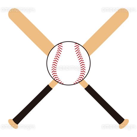 野球のバットとボール セット イラストのイラスト素材 [FYI04568451]