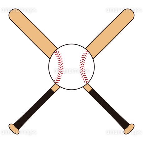 野球のバットとボール セット イラストのイラスト素材 [FYI04568452]