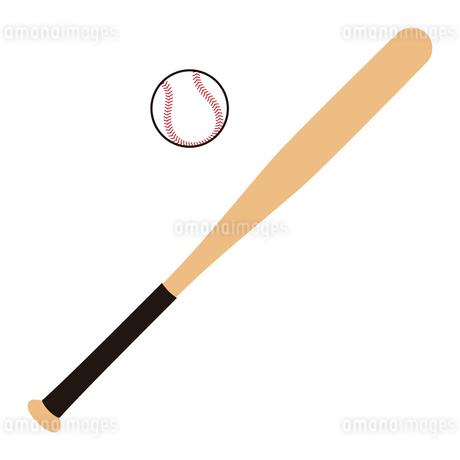 野球のバットとボール セット イラストのイラスト素材 [FYI04568460]