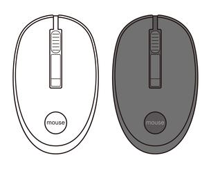 パソコンのマウス イラストのイラスト素材 [FYI04568505]