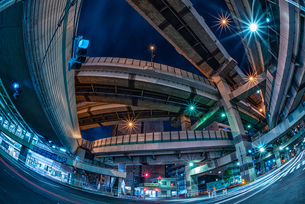 ジャンクション夜景 Junction Nightviewの写真素材 [FYI04568629]