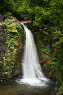 山形県銀山温泉の白銀の滝の写真素材 [FYI04568772]