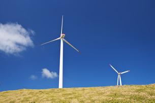 宗谷丘陵の風力発電の写真素材 [FYI04568834]