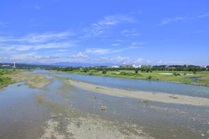 立日橋から見た多摩川の写真素材 [FYI04568943]
