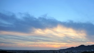 島根半島の夕焼けの写真素材 [FYI04569235]