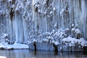 1月 木曽御嶽山の白川氷柱群の写真素材 [FYI04569321]