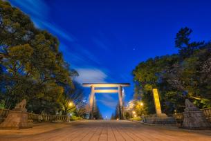 靖国神社夜景 Yasukuni Shrine Nightviewの写真素材 [FYI04570360]