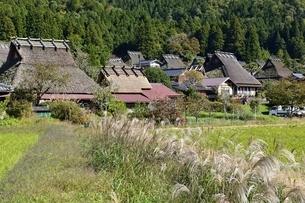 京都,美山かやぶきの里の写真素材 [FYI04570541]