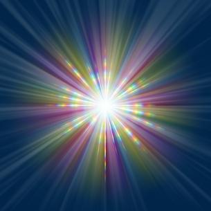 カラフルな放射光CGのイラスト素材 [FYI04570775]