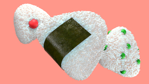 Various of rice balls.のイラスト素材 [FYI04571083]