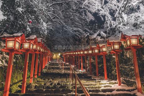 冬の貴船神社の写真素材 [FYI04571225]