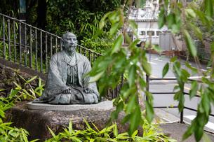 有馬温泉湯けむり広場太閤秀吉像の写真素材 [FYI04571293]